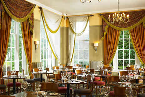 Shrigley Hall Hotel - Three course dining for two with a glass of Prosecco each - Save 36%
