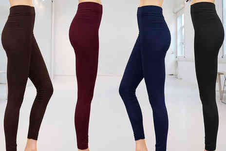 Nothing New 2 Wear - Four pairs of fleece lined leggings get four fabulous colours - Save 80%