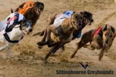 Sittingbourne Greyhounds Racing Track - Greyhound Racing Entrance For Two With Race Card, Meal, Drink and £1 Tote Bet Each - Save 51%