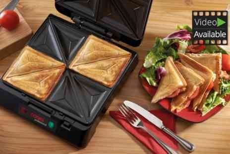 Groupon Goods Global GmbH - Cooks Professional Sandwich and Grill Multi Cooker for with Optional Waffle Plates - Save 50%