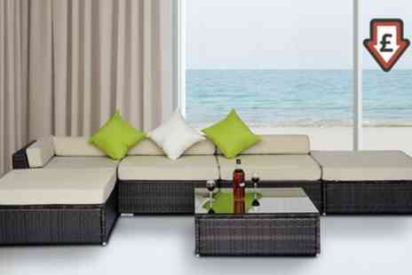 Groupon Goods Global GmbH - Six Piece Rattan Effect Outdoor Furniture Set With Free Delivery - Save 3%