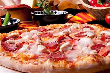 The Fox and Castle - Choice of Pizza with Optional Wine for Two or Four - Save 39%