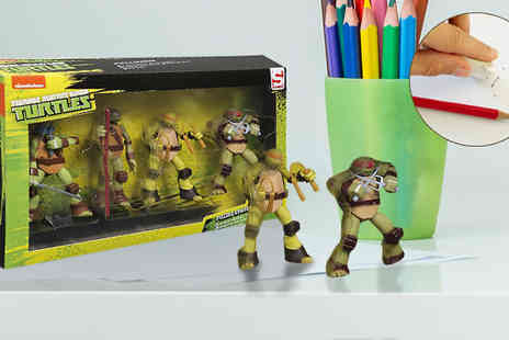 Direct 2 public - 4 x Teenage Mutant Ninja Turtles Puzzle Erasers - Save 88%