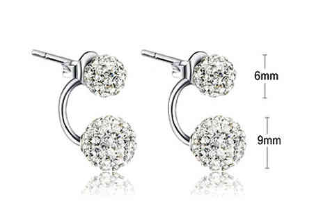 Van Amstel diamond - Reagan or Sarah Duo Crystal Earrings - Save 85%