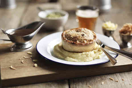 Cotham Porter Stores - Pie, mash and gravy meal for two with beer or wine each - Save 30%