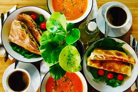 The Early Bird Coffee and Tea House - Soup, Sandwich and Hot Drink for Two - Save 42%
