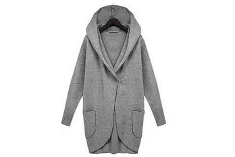 Verso Fashion - Oversized Hooded Jacket Available in 3 Colours - Save 53%