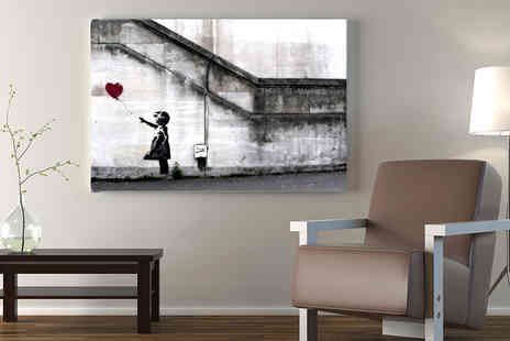 Deco Matters - A4, A3, A2 or A1 Banksy canvas - Save 92%