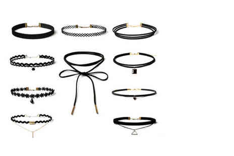 London Exchain Store - 10 piece choker set - Save 90%