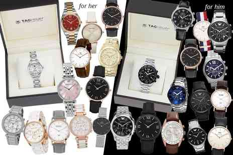 Gray Kingdom - Luxury mystery watch deal for him or her from Tag Heuer, Hugo Boss, Emporio Armani, Michael Kors, Marc Jacobs, Daniel Wellington, Luke Henry & more - Save 0%
