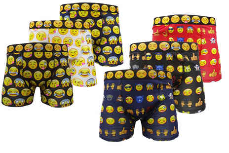Stitch Trading - Six pack of mens novelty emoji boxers - Save 50%
