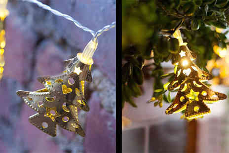 Gagala - Christmas Tree Metal Bauble Battery String Lights - Save 21%