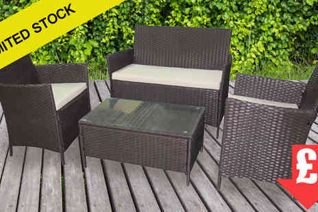 EVRE - Autumn CLEARANCE  Madrid Mixed Brown Rattan Furniture Set - Save 89%