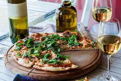 Dan & Angel Restaurant - Pizza meal for two with a bottle of wine to share - Save 51%
