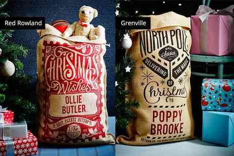The Handmade Christmas Company - Personalised Christmas sack choose from 15 designs - Save 64%