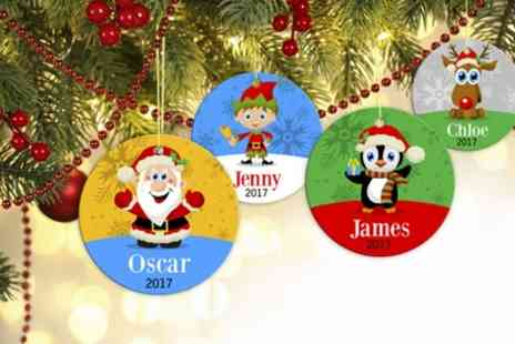 Dinkleboo - Up to Five Personalised Christmas Ornaments - Save 67%