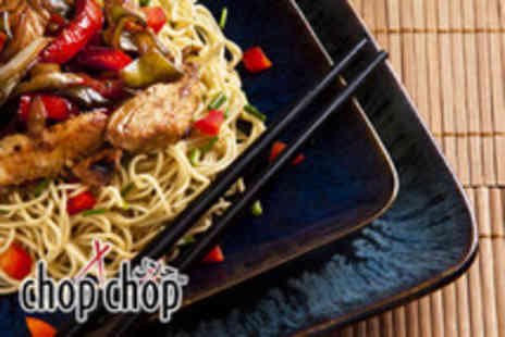 Chop Chop - Asian noodle bar meal for 2 inc. two noodle dishes, two sides plus two drinks - Save 50%