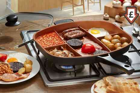 Groupon Goods Global GmbH - Cooks Professional Multi Section Frying Pan Range - Save 73%