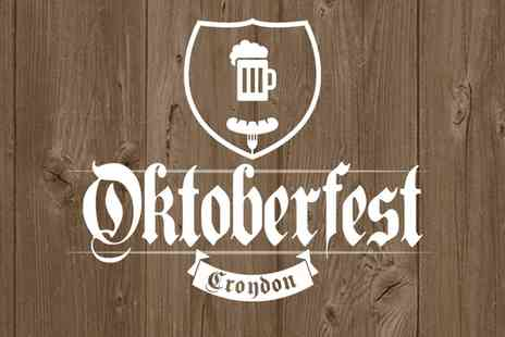 Oktoberfest Croydon - One afternoon or evening ticket to Croydon Oktoberfest on 27 To 28 October 2017 - Save 55%
