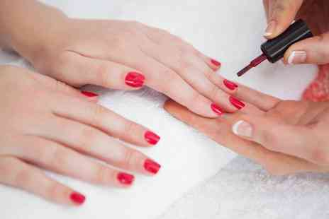 Ruby Red - Gel Manicure, Pedicure or Both - Save 40%