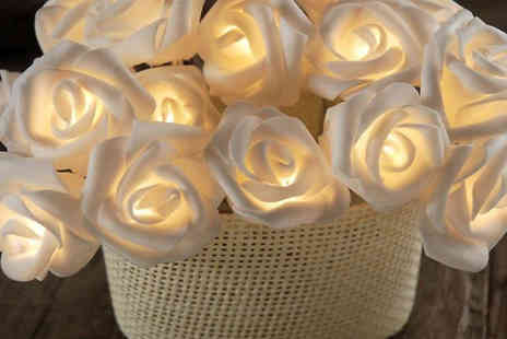 Goods Direct - String of 20 Rose Fairy Lights - Save 77%