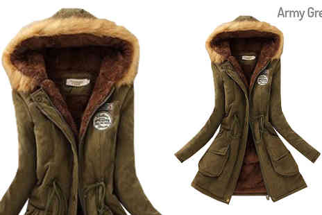 Hawt Online - Full Length Hooded Parka Choose 6 Colours, 5 Sizes - Save 64%