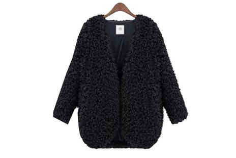 Hawt Online - Ladies Faux Fur Cardigan Choose 2 Colours - Save 68%