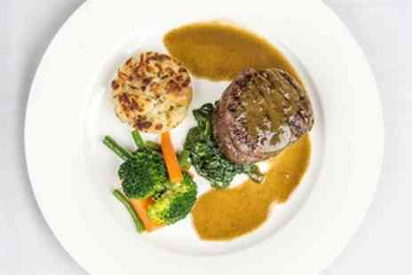 The Cliffe At Dinham - Two AA Rosette lunch for 2 with hot drinks - Save 37%