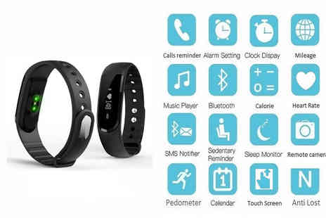 All Star Brands - 19 in 1 smart bluetooth activity bracelet with heart rate monitor - Save 84%