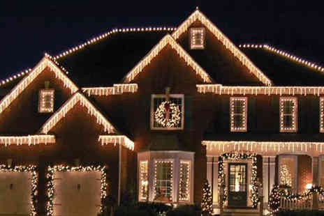 Groundlevel - Set of 180 icicle house lights - Save 63%