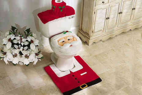 Ckent - Four piece Santa Claus bathroom set - Save 63%