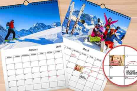 Printerpix - Up to Five Personalised A3 Wall Calendars - Save 76%