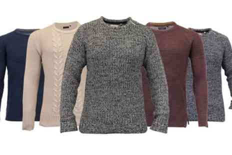 Groupon Goods Global GmbH - Brave Soul Mens Chunky Knit Sweater - Save 0%
