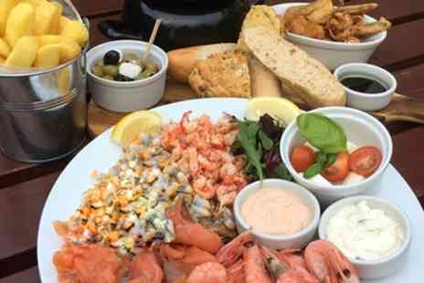 The Jolly Sailor - Hot and Cold Seafood Sharing Platters with Prosecco for Two or Four - Save 49%