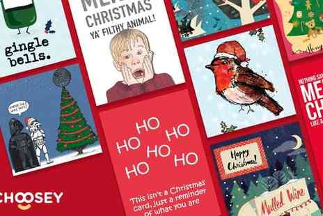 Choosey - £25 or £50 Toward Personalised Festive and Greeting Cards - Save 50%