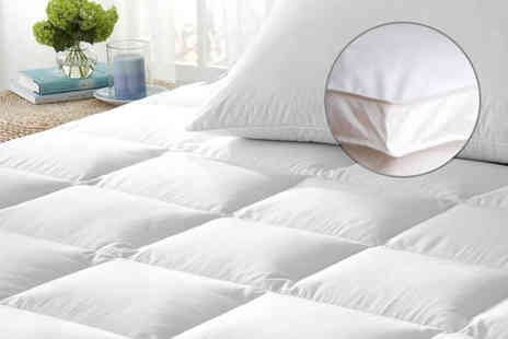 Groundlevel - Single, double, king or super king size luxury mattress topper - Save 75%