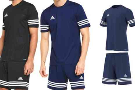 Groupon Goods Global GmbH - Adidas Entrada Sports T Shirt and Shorts Set in Choice of Colour - Save 23%