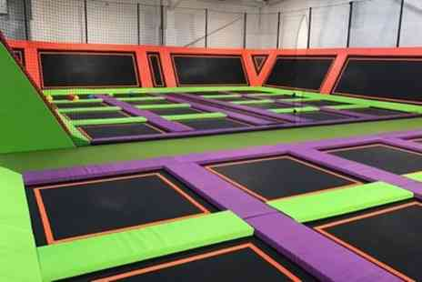 Jump Arena - One Hour Trampoline Park Open Jump Session for One, Two or Four - Save 20%