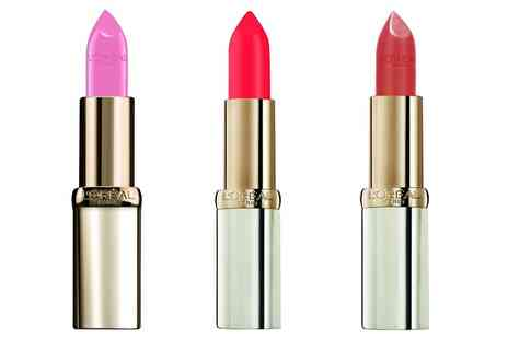 Groupon Goods Global GmbH - Three LOreal Paris Lipsticks - Save 62%