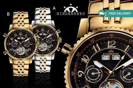 Kendor Van Noah - Mens Hindenberg Gold Edition watch choose from four designs plus delivery is included - Save 86%