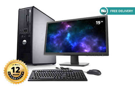 IT Trade Services - Dell Optiplex 755 Core 2 Duo with 80GB HDD and 19 inch monitor plus 12 month warranty plus Delivery is included - Save 87%