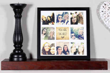 Your Perfect Canvas - 12 x 12 Best Friend framed collage print or 16 x 16 frame - Save 80%