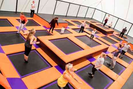 Xtreme Bounce - Trampoline Park Entry with Jump Socks for One or Two - Save 25%