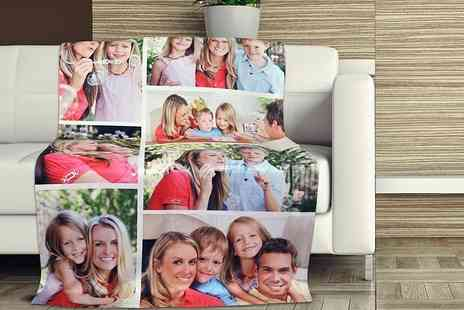 Eastmon Online - Personalised photo blanket in one of three sizes - Save 87%
