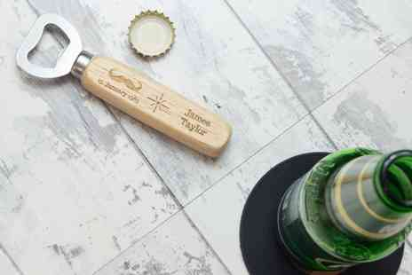Shop Sharks - Personalised wooden bottle opener plus Delivery is Included - Save 57%