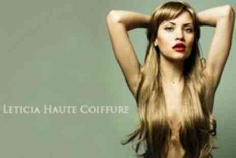Leticia Haute Coiffure - Half Head Highlights or Full Head Colour With Kerastase Conditioning Treatment, Cut and Blow Dry - Save 83%
