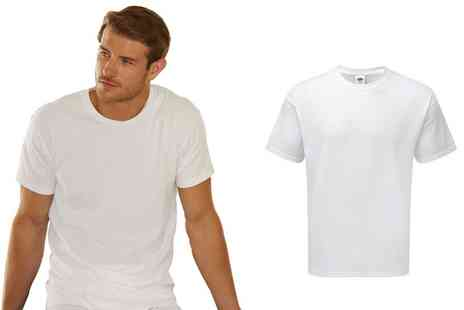 Groupon Goods Global GmbH - Three Pack of Fruit Of The Loom Basic TShirts - Save 0%