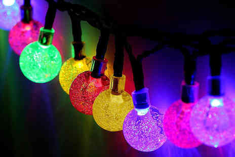 Gilded Olive - String of 30 solar powered outdoor Christmas lights - Save 69%