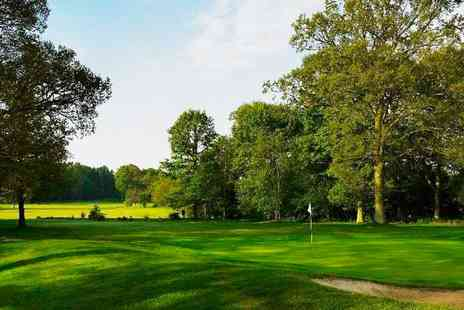 Lingfield Park Marriott Hotel - 18 holes, bacon roll & coffee for 2 - Save 70%