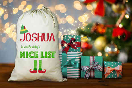 Treats on Trend - Personalised Buddy The Elf inspired Christmas sack - Save 63%